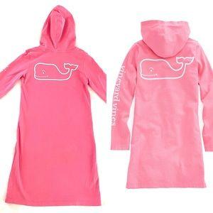 Vineyard Vines Girl's Whale Hoodie Tee Dress